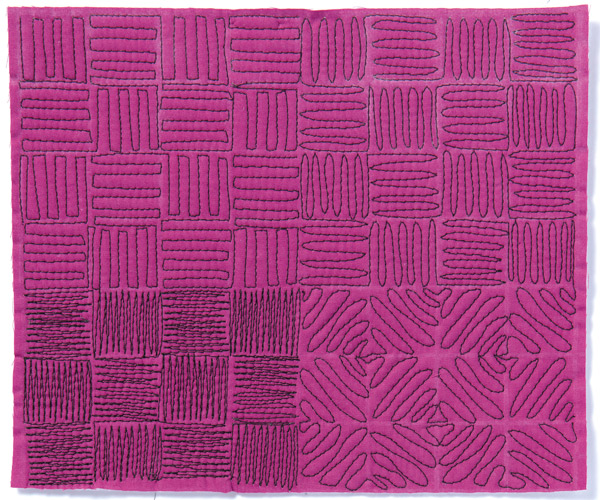 Free-Motion Quilting Sample 1
