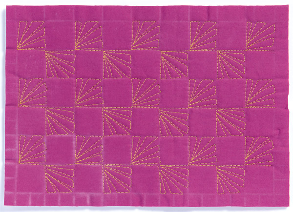 Free-Motion Quilting Sample 4