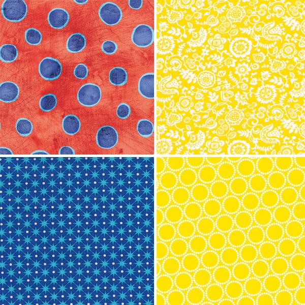 Primary Colour Fabrics 1-4
