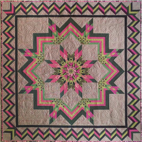Flowering Star 2016 Full Quilt