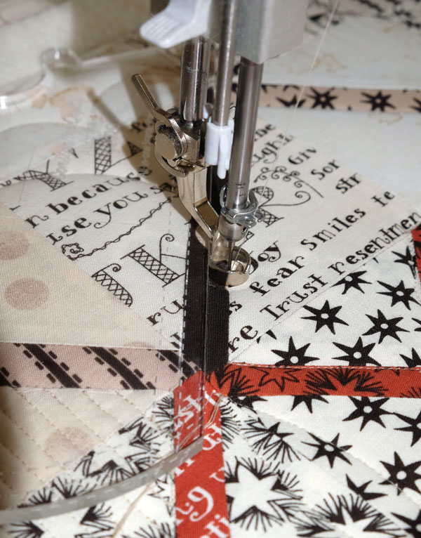 Quilting In The Ditch With All In One Starter Ruler