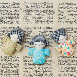 Embroidered and Insulated Tea Cozy Japanese Kokeshi Doll