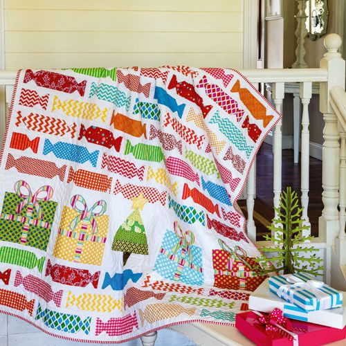 Christmas Quilt Patterns.Bonbon Christmas Quilt