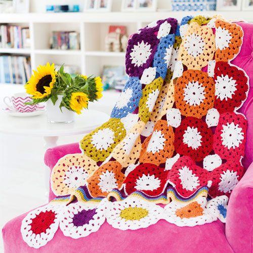 Rainbow Crochet Circles Blanket By Karen Pior