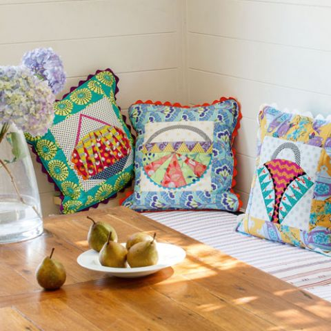 styled shot of basket case cushions