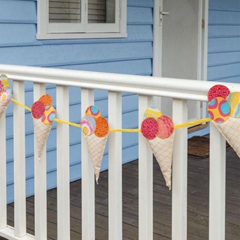 styled shot of coney island bunting