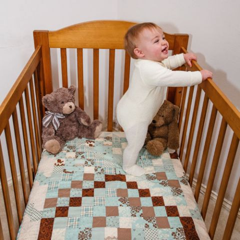 Baby's Got The Blues Cot Quilt