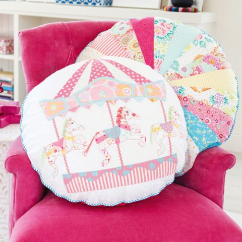 Cotton-Candy Carousel Cushions