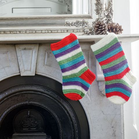 Pop Them in Here Please Santa Crocheted Stockings