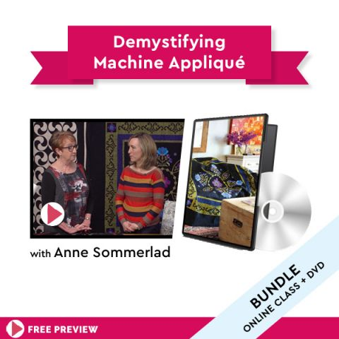Demystifying machine appliqué + DVD