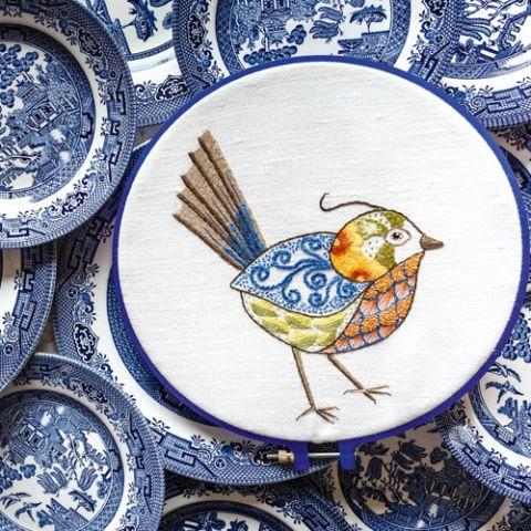 Dishy Bird Embroidery