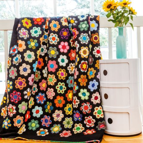 Eye Spy Hexie Quilt