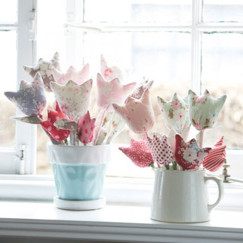 Fabric Tulip Bouquet