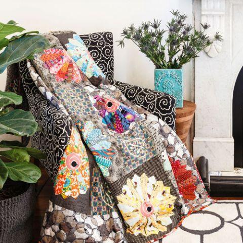 styled shot of floribunda modern dresden quilt