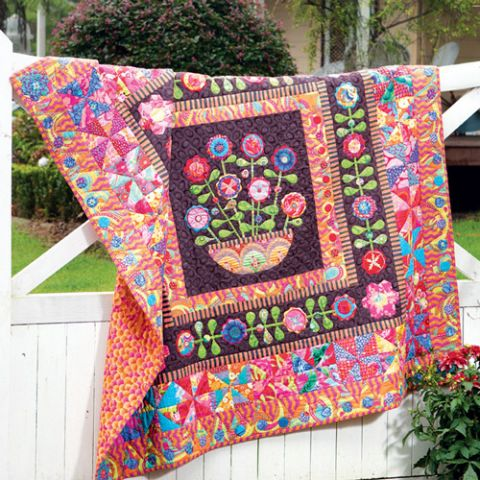 Flower Basket Medallion Quilt