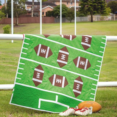 What A Kick Football Quilt