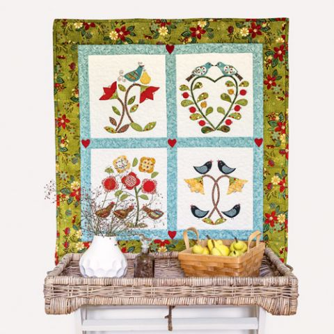 Four Days of Christmas Wallhanging