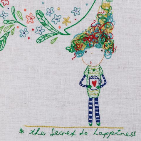 The Secret to Happiness Embroidery