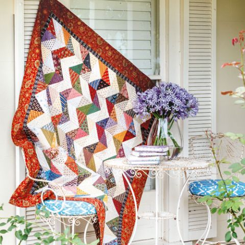 styled shot of lightening flash quilt