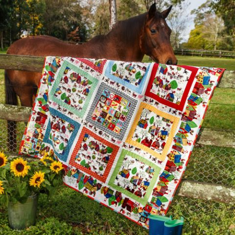 The Novelty Of Squares Quilt