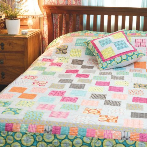 styled shot of now and zen quilt