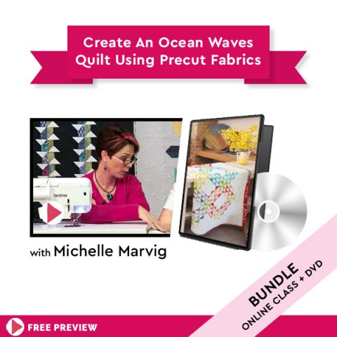 Create An Ocean Waves Quilt Using Precut Fabrics + DVD
