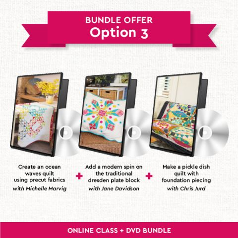 Quilting DVDs Bundle: option 3