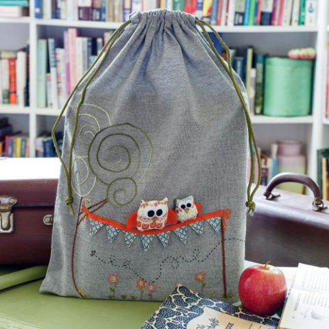 Owl Read It To You Library Bag