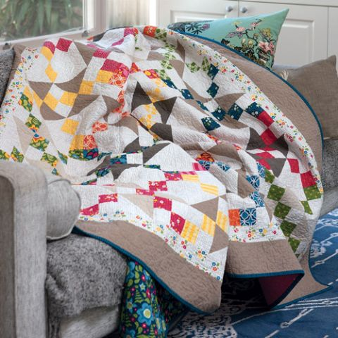 Patches And Triangles Quilt