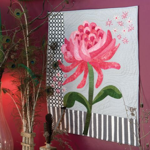 Pink Waratah Quilt