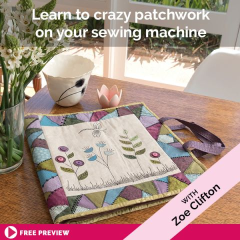 Learn to crazy patchwork on your sewing machine
