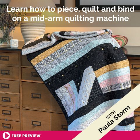 Learn how to piece, quilt and bind on a mid-arm quilting machine
