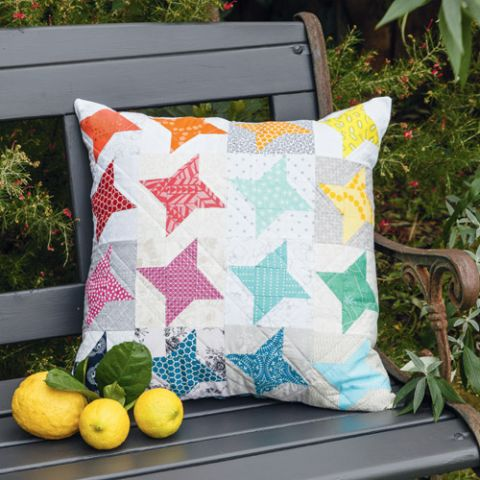 Rainbow Of Stars Cushion