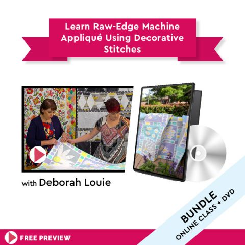 Learn Raw-Edge Machine Appliqué Using Decorative Stitches + DVD
