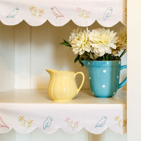 Retro Bird Shelf Edging