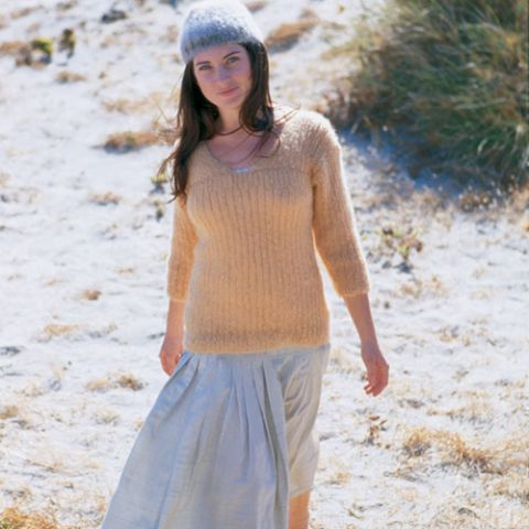 Ribbed Mohair Top