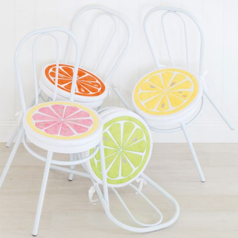 Slices of Citrus chair cushions