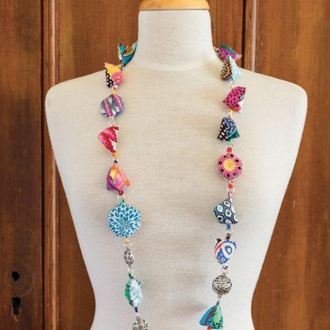 Stringing It Softly Fabric Necklace