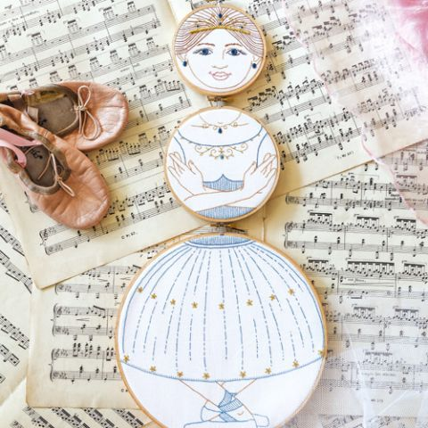 Ballerina Put Through the Hoops Embroidery