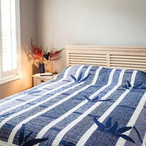 Blue Bamboo Quilt