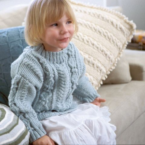 Classic Children's Cabled Sweater