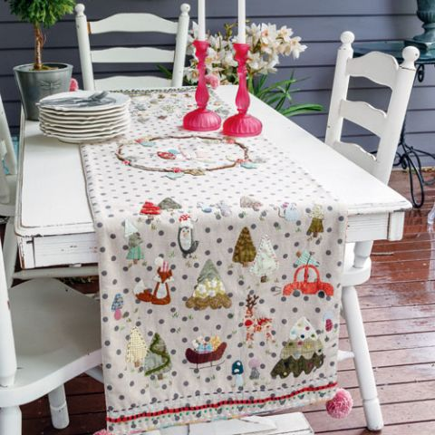 Table of Christmas Contents Table Runner