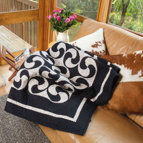styled shot of tarantella quilt