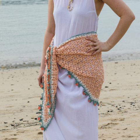 The Long Cool Summer Crocheted Shawl
