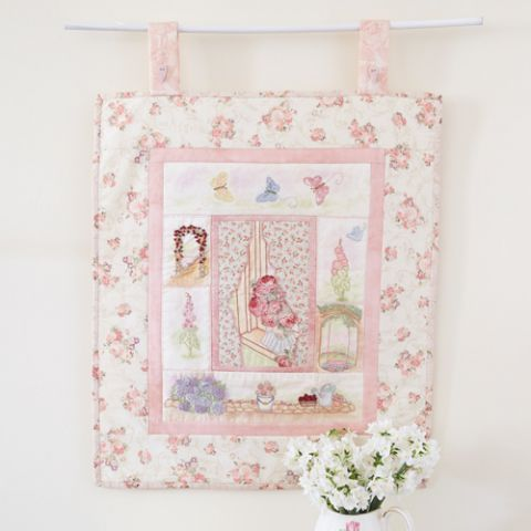 The Window To My Garden Embroidered Wallhanging