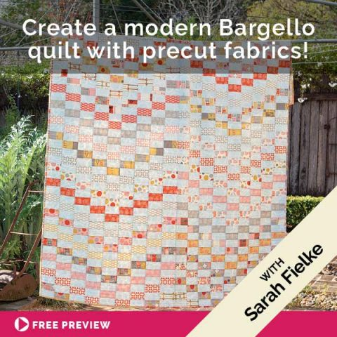 Create A Modern Bargello Quilt With Precut Fabrics!