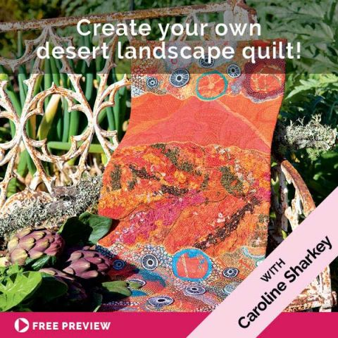 Create your own desert landscape quilt!