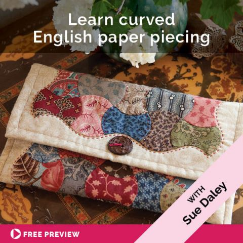 Learn curved English paper piecing