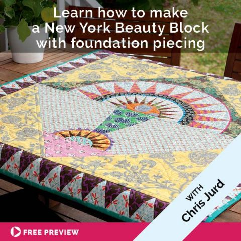 Learn how to make a New York Beauty Block with foundation piecing