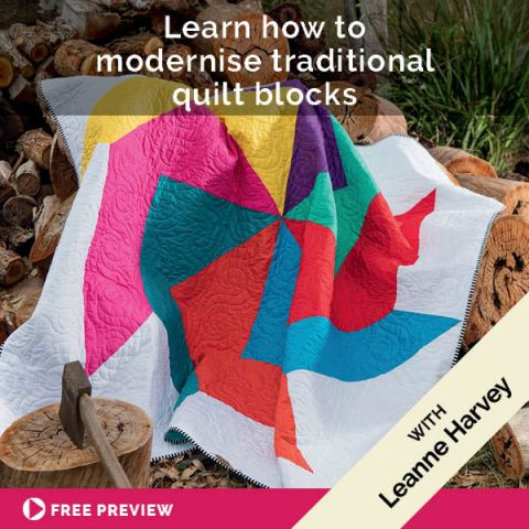Learn how to modernise traditional quilt blocks